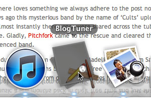 Drop on the BlogTuner Icon